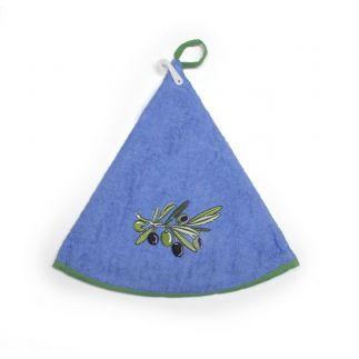 essuie-main éponge olive vert anis