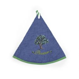 essuie-main éponge olivier bleu