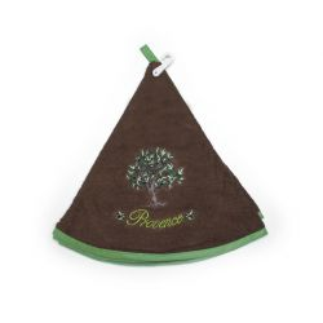 essuie-main éponge olivier marron