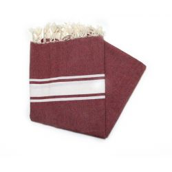 Fouta Essaouira brown hazelnut