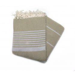 fouta 2x3 m arthur green, khaki & grey grande XXL 32 200/300 cm 12,00€