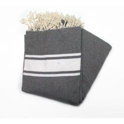 beach towel 1.5x2.5 m classic medium gray large XL 9 150/250 cm