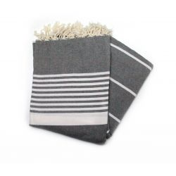 fouta XL solid gray