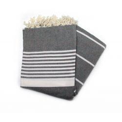 fouta XL gris sólido