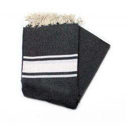 large fouta stripes fuschia