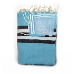 double towel athenes sky blue athenes 2 TOWELS & DOUBLE FOUTAS