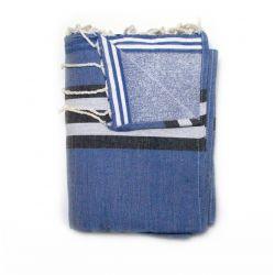 double towel athenes medium blue athenes 1 TOWELS & DOUBLE FOUTAS