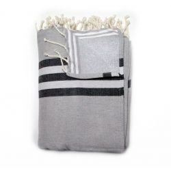 fouta lined classic grey