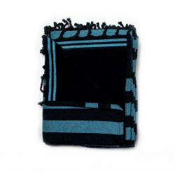 beach towel lined corfou blue & corfou black 8 TOWELS & DOUBLE FOUTAS