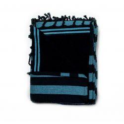 fouta doublée corfou bleu & noir corfou 8 SERVIETTES & FOUTAS DOUBLEES