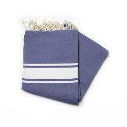 fouta 1.5x2.5 classique bleu grec