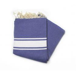 fouta 1.50x2.50 m classique bleu grec