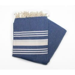fouta 1.50x2.50 m saint barth blue Greek grande XL 20 150/250 cm 10,00€