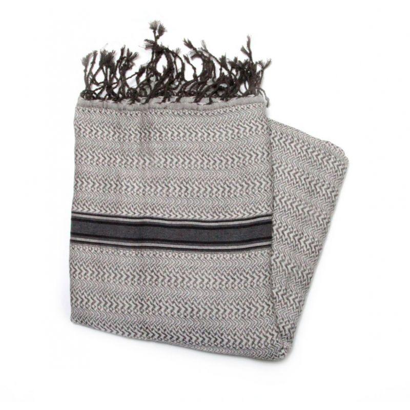 fouta chevron gris & marron chevron 1 Accueil 14,90€