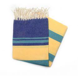 Fouta gabes bleu vert & jaune gabes 5 les colorées