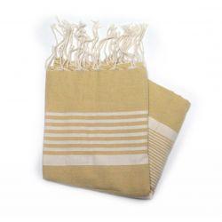 Beach towel flat Bizerte mustard yellow