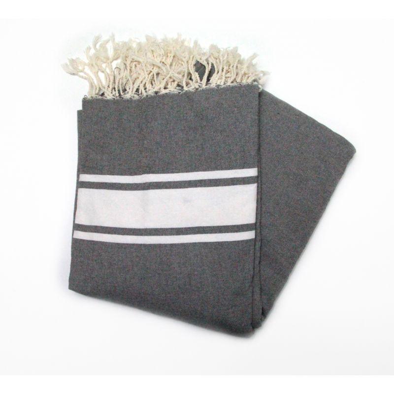 beach towel 1.5x2.5 m dark gray
