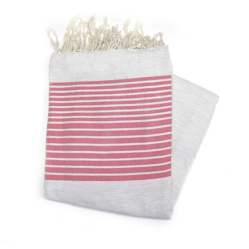 beach towel 2x3 m gray fuschia strips